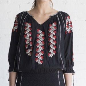 Ulla Johnson Samira embroidered blouse sz 4